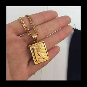 """Other - New 18k gold """" k """" necklace"""