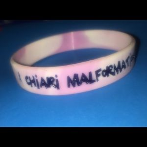 Jewelry - pink & purple silicone charity bracelet