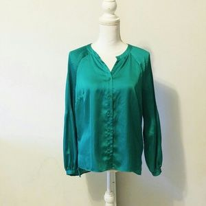 Helmut Lang Tops - Helmut Lang green long sleeve button up