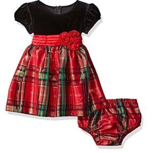 Bonnie Baby Other - Bonnie Baby Girls Plaid Taffeta Dresss