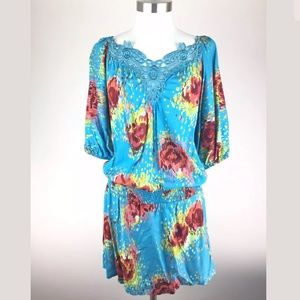 Angie NEW Lace Boho Hippie Summer Dress Gypsy Top