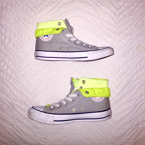 09d1f0c95cf Converse Shoes - CONVERSE 2-in-1 Grey   Neon Yellow High-Tops