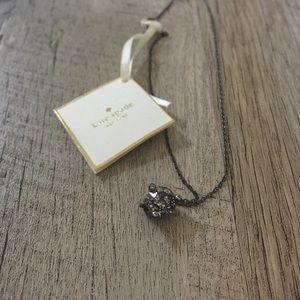 kate spade Jewelry - • black brass necklace •
