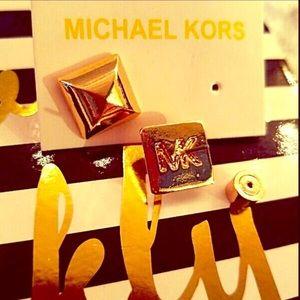 Michael Kors pyramid glam stud earrings