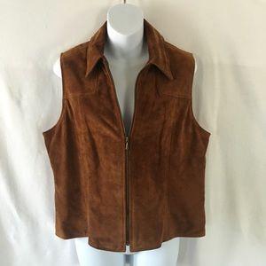 Ann Taylor Jackets & Blazers - Genuine leather vest full zip