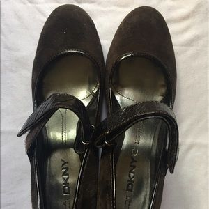 Brown DKNY wedges- used once or twice