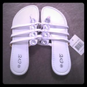 eve Shoes - Brand New Pearly White Jeweled Flip Flops!