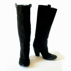 Barneys New York CO-OP Shoes - Barney's Co-op burnished black suede boots