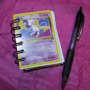 Pokemon Other - Custom Handmade Pokémon Mew Card Mini Notebook