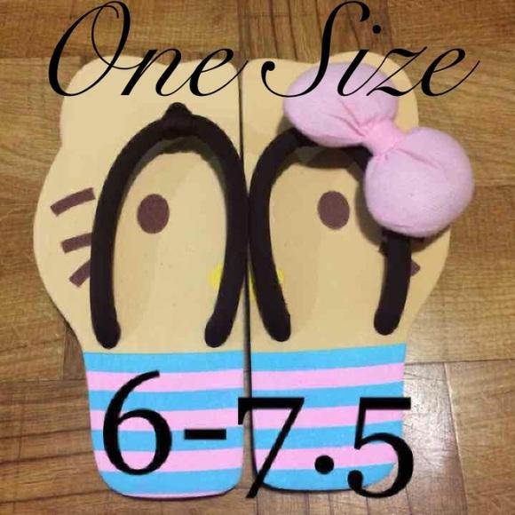 28e02ead3 Sanrio Shoes | Hello Kitty Outside Or House Flip Flops | Poshmark