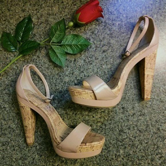 e77e8805414 LC Lauren Conrad Shoes - LC Lauren Conrad Blush Nude Cork Wedge Heels