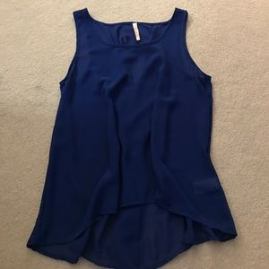 Andree Tops - Royal Blue Blouse with adorable back