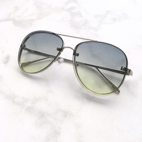 2105400099 Green Colored Lens Aviator Sunglasses