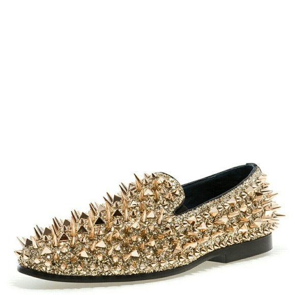 4f46e6bcfa2 JUMP NEWYORK LORD GOLD SPIKE LOAFERS