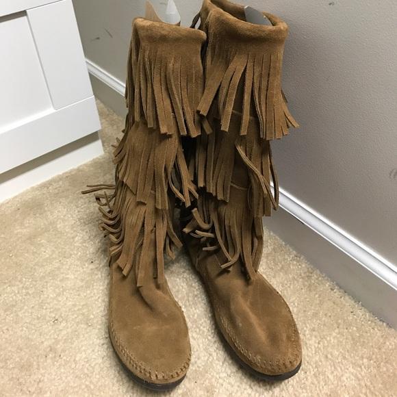 49 minnetonka shoes minnetonka dusty brown 3 layer