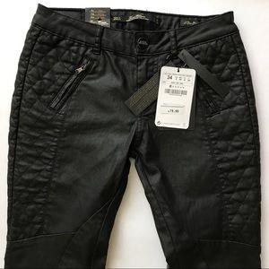 Zara Denim - 🔥Zara new waxed Moto padded jeans