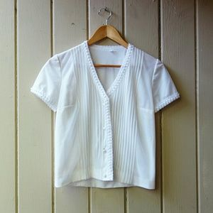 Vintage 1950s Semi-Sheer Cropped Blouse