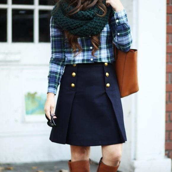 0a8966180a J. Crew Skirts | Nwtjcrew Doubleserge Wool Sailor Skirt | Poshmark