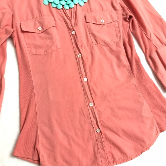 74% off James Perse Tops - JAMES PERSE Contrast Panel Button Down ...