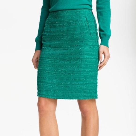 9fd3807ccad Halogen Dresses   Skirts - Halogen textured teal pencil skirt