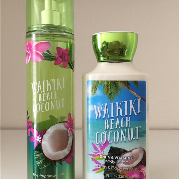 Bath Body Works Waikiki Beach Coconut Nwt