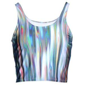 Zara Terez Tops - NWT Zara Terez Rainbow Print Crop Top