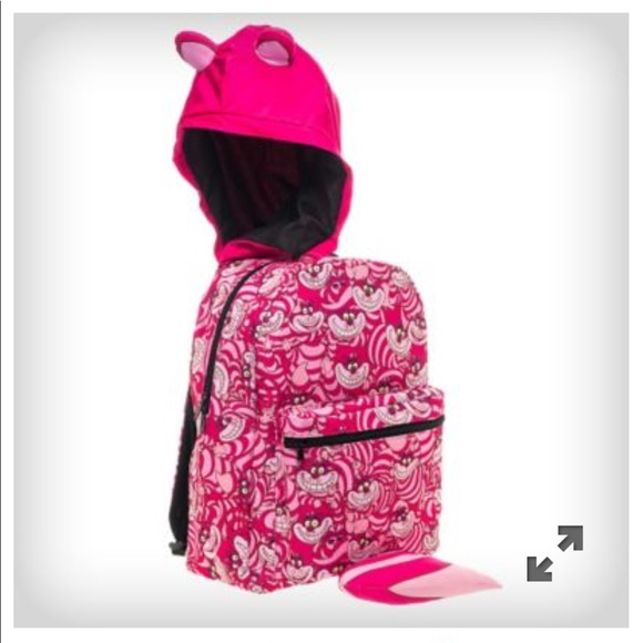 2ec43ab49a Disney Handbags - Cheshire Cat hooded backpack