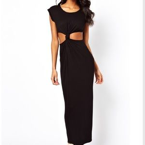 ASOS Petite Dresses & Skirts - ASOS Petite Maxi Dress with Front Knot Cut Out