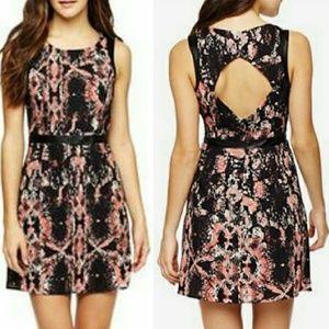 Mac + Jac Coral Kiss Cutout Dress new