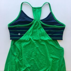 lululemon athletica Tops - Lululemon No Limits Tank in Dark Blue and Green