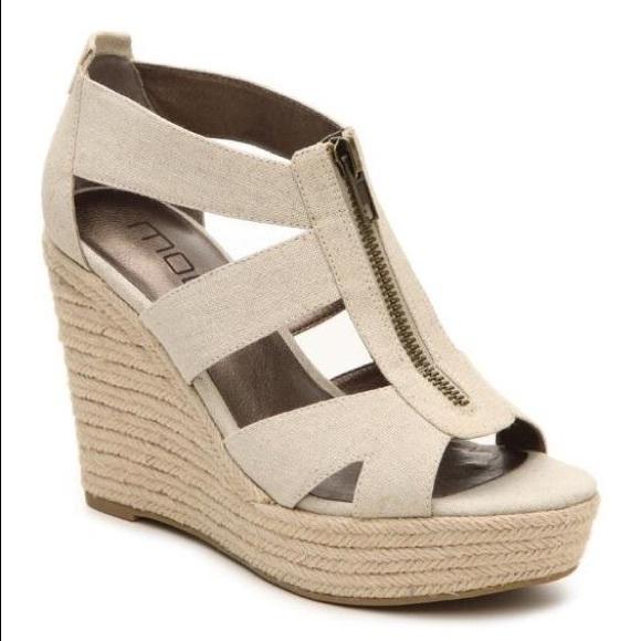 66 moda shoes nwt moda quot kinsy quot linen wedge heel