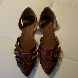 Cute leather sandals, worn twice
