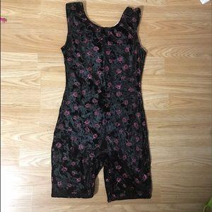 Jacques Moret Other - Leotard Unitard Girls Large 12 14 Black Pink Velve