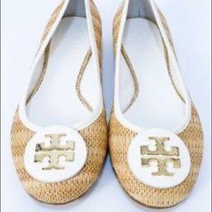 5c2578512179 Tory Burch Shoes - Tory Burch Reva Raffia Straw Woven Ballet Flat