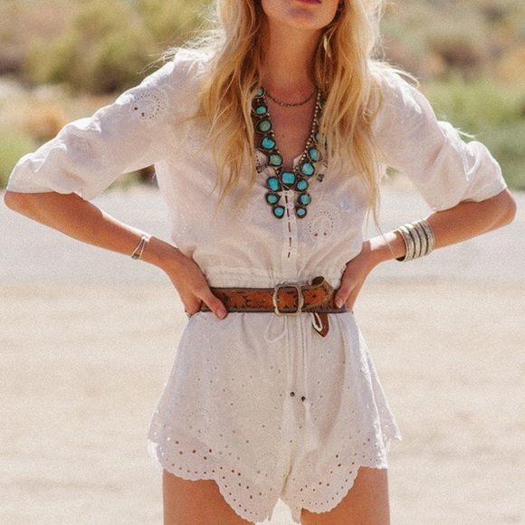 ae0b4ee7a5e SPELL DESIGNS INDIANSUMMER EYELET PLAYSUIT ROMPER.  M 591400feea3f36415c019d5e