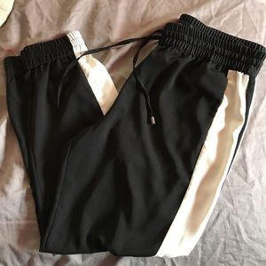 mossimo black Pants - Black w white stripe tracksuit pants