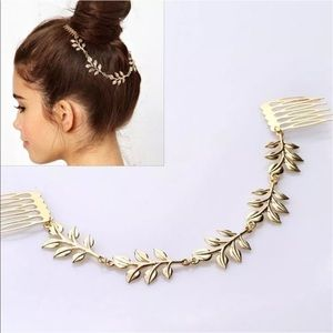 ALLOY Accessories - NWT GOLD LEAF 2COMBS HAIR JEWELRY