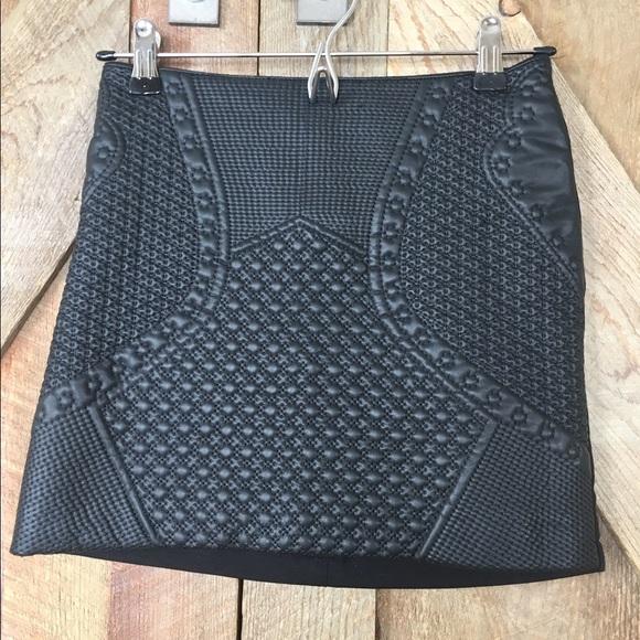 divided new vegan leather pleather pattern imprint skirt