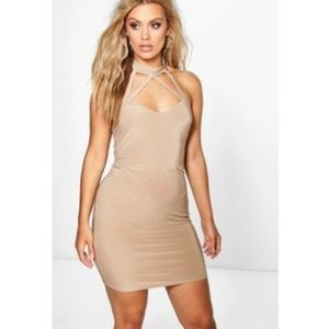 Boohoo Plus Dresses & Skirts - Plus jen high neck strappy bodycon dress