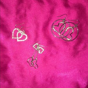 Claire's Jewelry - Heart Earrings