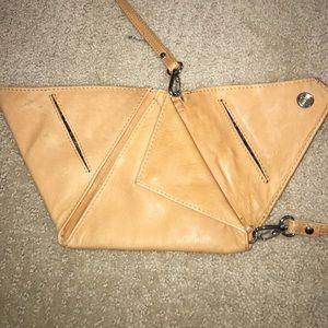 Handbags - Unique One of a Kind Leather Triangle Purse Bag