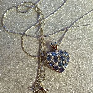 Jewelry - Blue crystal heart necklace
