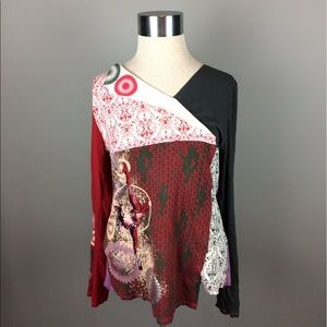 Tops - Cirque Du Soleil patchwork long sleeve top