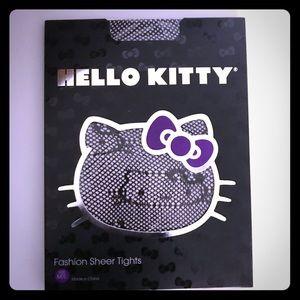 Sanrio Accessories - HELLO KITTY SANRIO Black sheer Fishnet Tights NWT