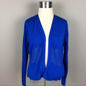 Vince Camuto mesh inset cardigan