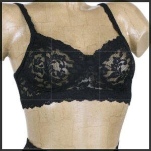 Hanky Panky Other - XS black hanky panky stretch lace retro bralette