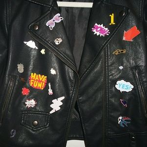 Zara biker pins jacket