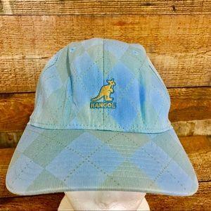 Kangol Accessories - Kangol Blue Gray Argyle L/XL Baseball Cap