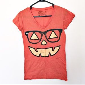 Tops - Hipster Pumpkin T Shirt (Halloween shirt)