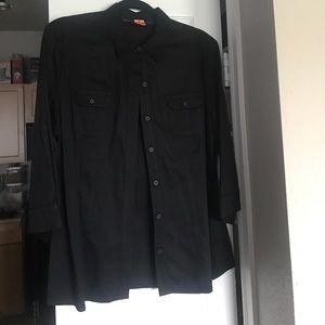 Apt.9 Tops - Black button down shirt